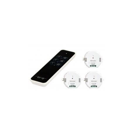 CHACÓN 54797 controles remoto de 3 canales + 3 módulos DE encendido/APAGADO