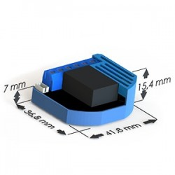 Micro-module commutateur 1 relais et conso-mètre Z-Wave ZMNHAA2 QUBINO