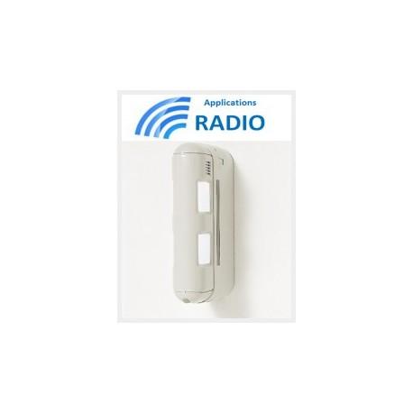 Optex BX-80NR - Détecteur alarme double IR extérieur radio 12X12M anti-animaux