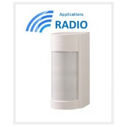 VXIR - Sensor außen-doppel-technologie PIR-12M 90° NIEDRIGE CONSO IP55