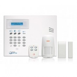 INFINITE KIT CENTRALE + TRANSM GSM + 1 DETECT + 1 CONTACT + 1 TELECO