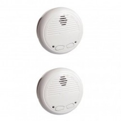 CHACON 34126 - Pack of 2 smoke detectors wireless (compatible with RFXCOM)