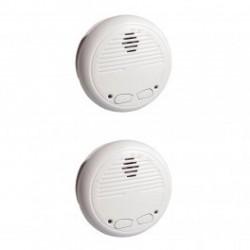 CHACON 34126 - Pack de 2 détecteurs de fumée sans fil (compatible RFXCOM)