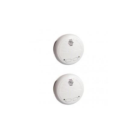 CHACÓN 34126 - Pack de 2 detectores de humo inalámbricos (compatible con RFXCOM)