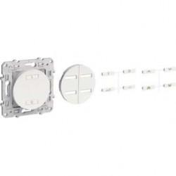 SCHNEIDER - Interrupteur sans fil radio 2 ou 4 boutons ON / OFF spécial rénovation Alu ODACE