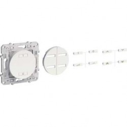 Interrupteur sans fil radio 2 ou 4 boutons variateur SCHNEIDER Blanc ODACE