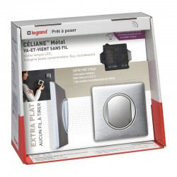 Pack comes and Goes wireless Legrand Celiane ALUMINUM color