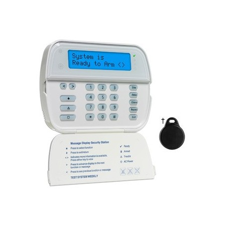 Clavier radio écran LCD lecteur de badge DSC WT5500P