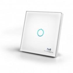 MCOHome - Interruptor táctil de cristal de 1 botón Z-WAVE