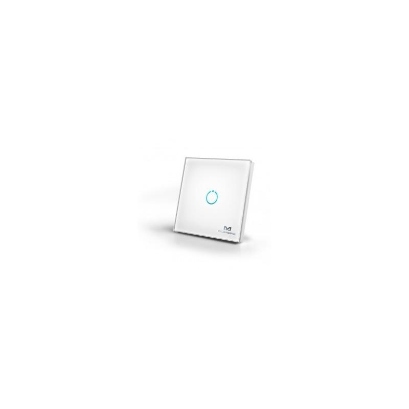 mco home interrupteur tactile en verre 1 bouton z wave. Black Bedroom Furniture Sets. Home Design Ideas