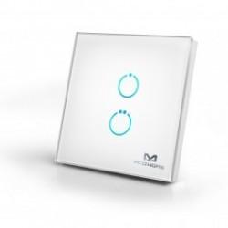 MCO Home MH-S412 - Interrupteur tactile en verre 2 boutons Z-WAVE